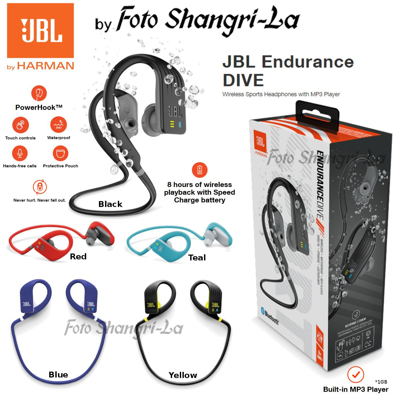 aa416af7399 JBL Endurance DIVE Waterproof Wireless Sports Headphones MP3 Player 1GB. ‹ ›