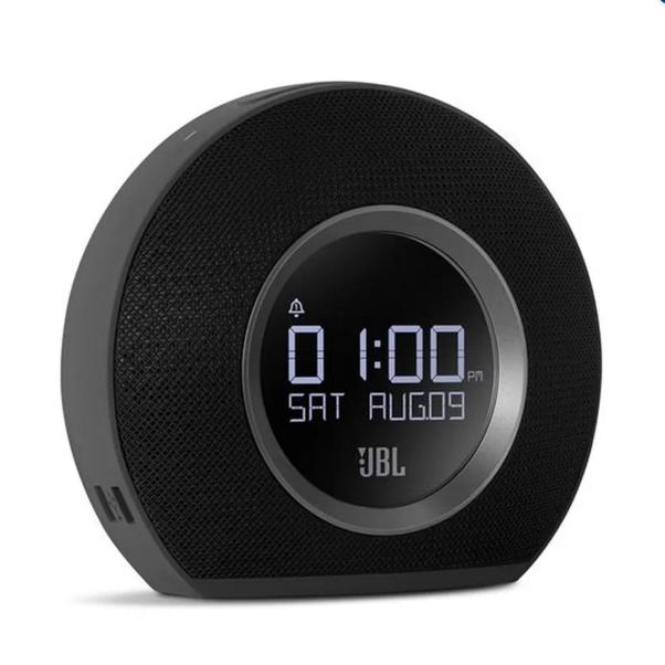 JBL Horizon Speaker Bluetooth Radio Clock with USB Charging - BLACK