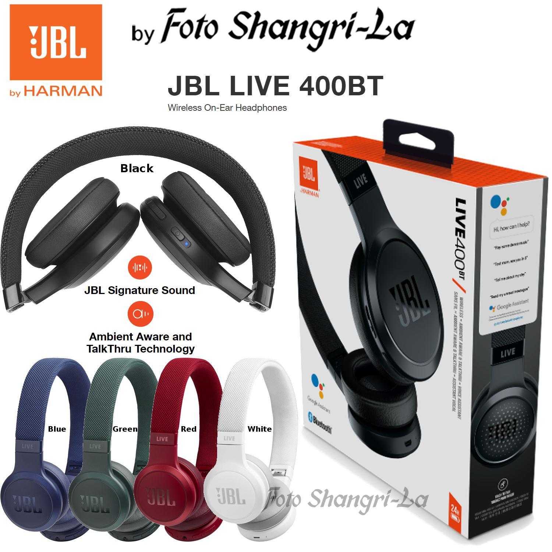 JBL LIVE 400BT Wireless On-Ear Headphones Foldable Mic Google Assistant  Alexa