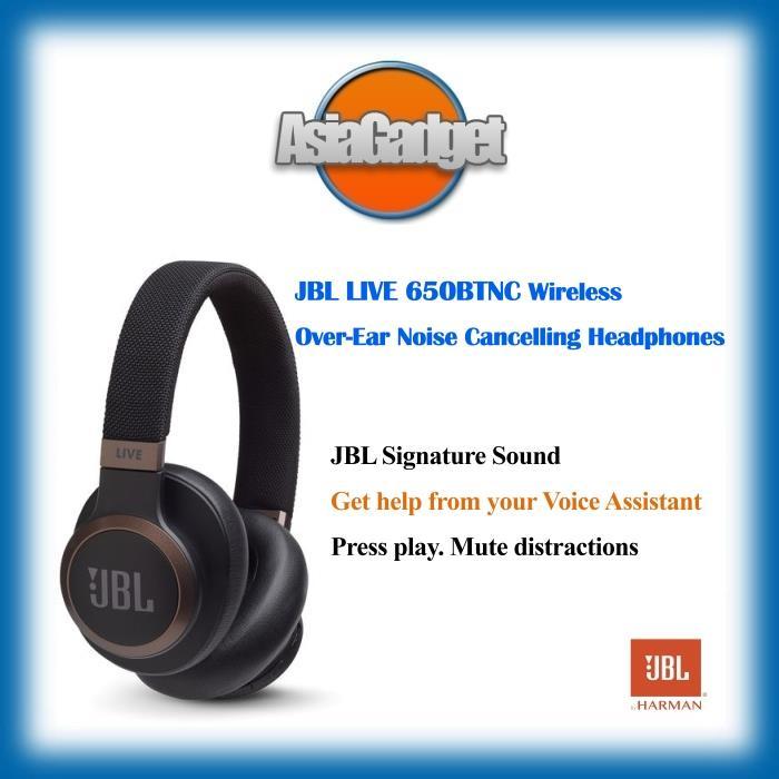 c21f0055de5 JBL LIVE 650 BTNC Wireless Noise Cancelling Headphones (Black)