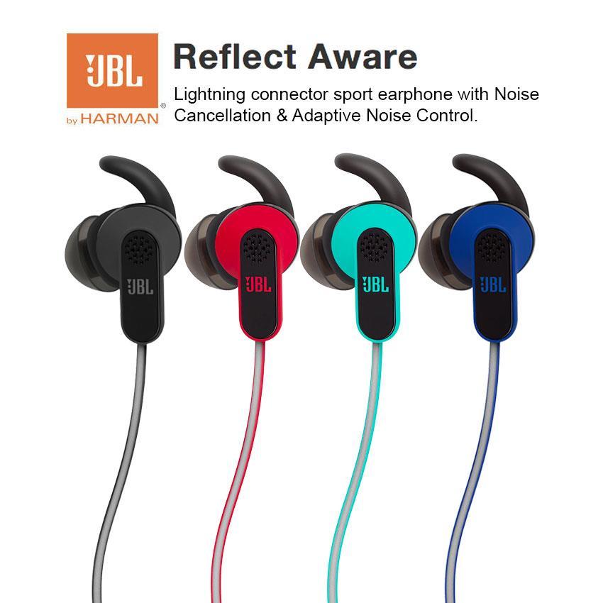 479d0207ecc JBL Reflect Aware Lightning Connector Sport Earphone Noise Cancel. ‹ ›