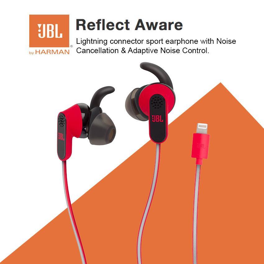 d8eeaaf486b JBL Reflect Aware Lightning Connector Sport Earphone Noise Cancel