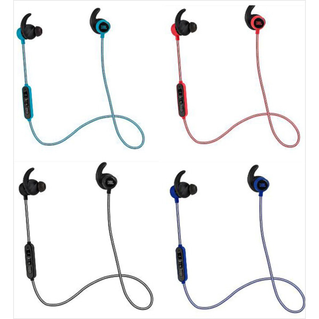 22f9055819c 1 pair of JBL Reflect Mini BT wireless sport earphones 3 button in-line  control 2 sizes of ergonomic sport ear-tips 2 sizes of regular ear-tips