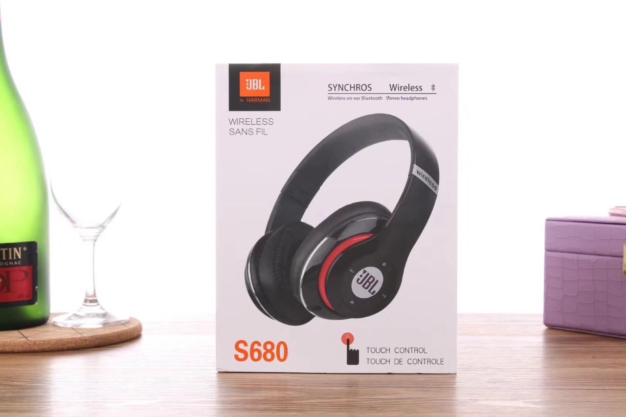 5c11d5714c3 JBL S680 Touch Control Synchros Wireless Bluetooth Stereo Headphones. ‹ ›