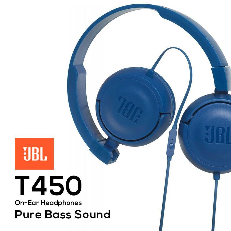 b9a1f3fcabe JBL T450 On-Ear Headphones Headset Powerful Bass Earphone Original