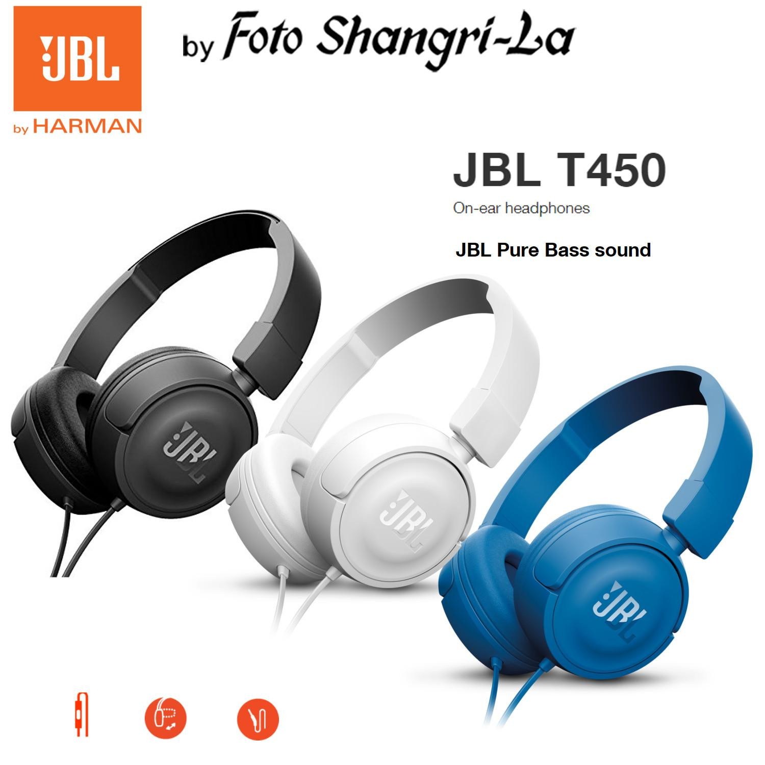 514d859c144 JBL T450 On-Ear Headphones Headsets Pure Bass Sound with Microphone Answer  Cal. ‹ ›