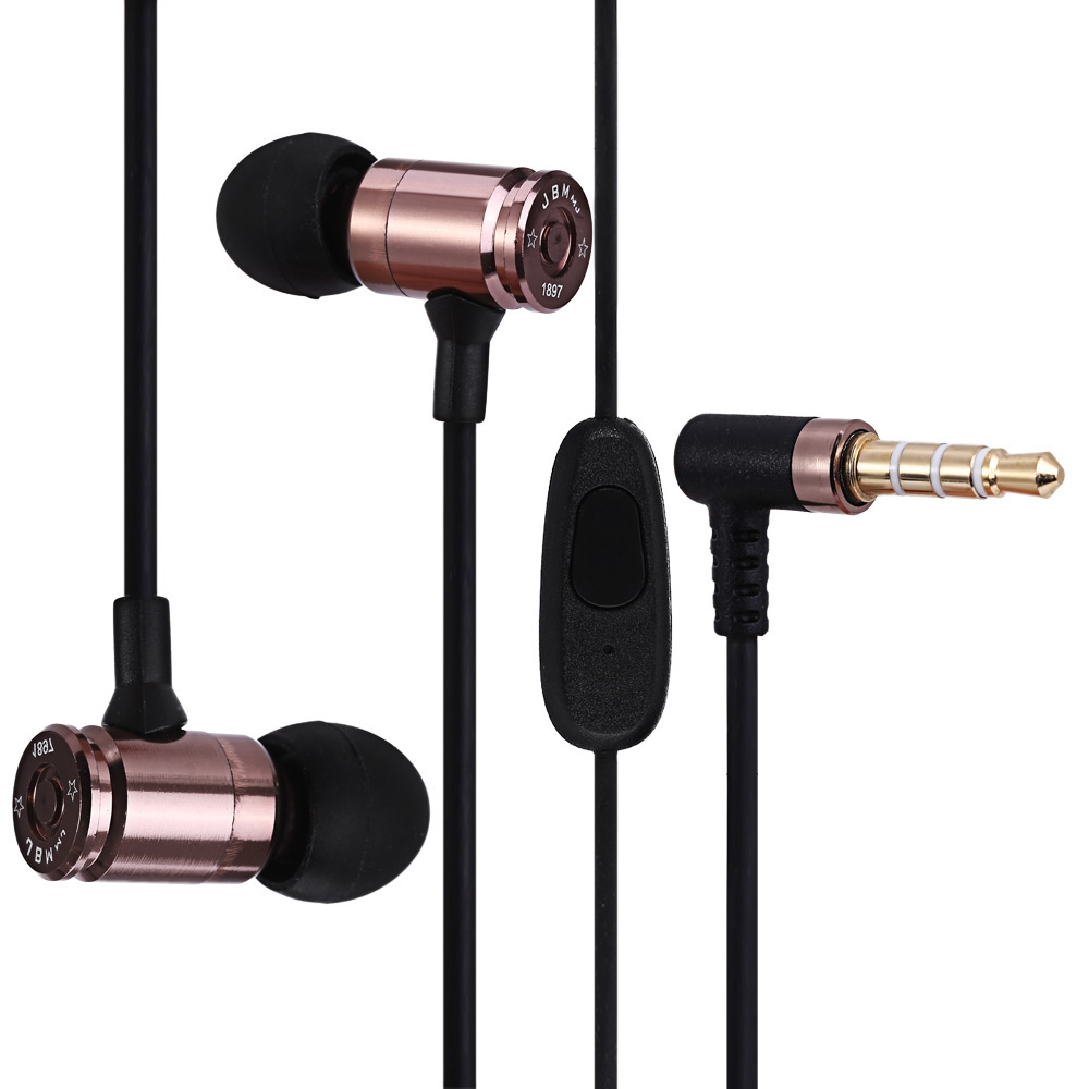 JBM MJ007 SUPER BASS STEREO HEADSETS 3.5MM PLUG BULLET EARPHONES WITH ..