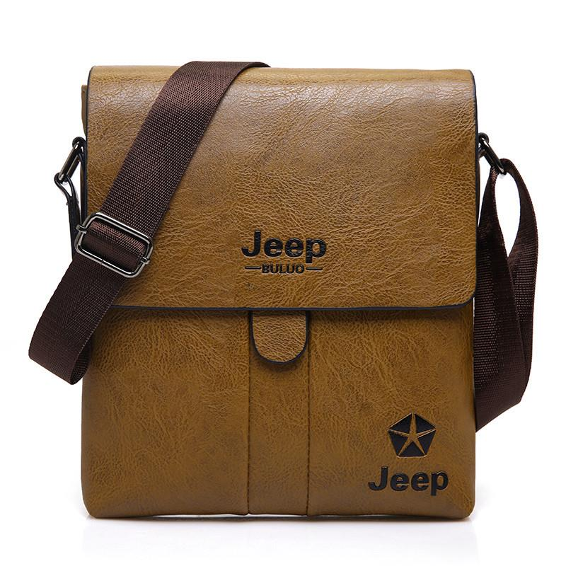 Jeep Buluo Genuine Leather Men Bag Shoulder Sling