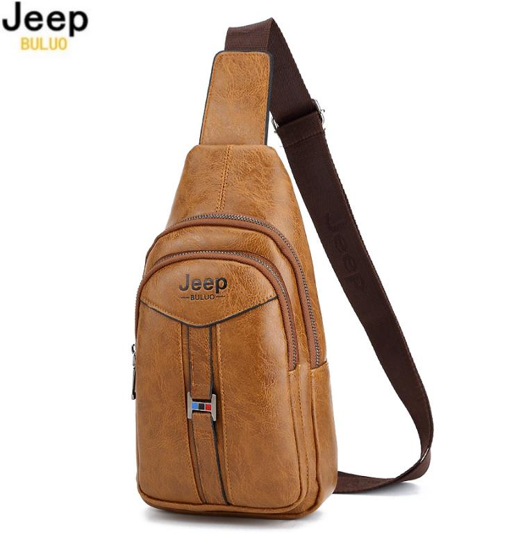 91196b97b0 Jeep Buluo Leather Bag Men s Bag Messenger Bags Sling Shoulder Bag. ‹ ›