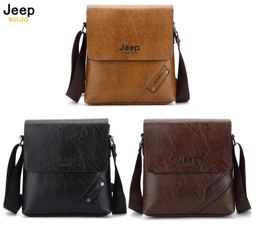 437054995657 JEEP BULUO Leather Briefcase Men Fash (end 9 6 2019 8 15 PM)