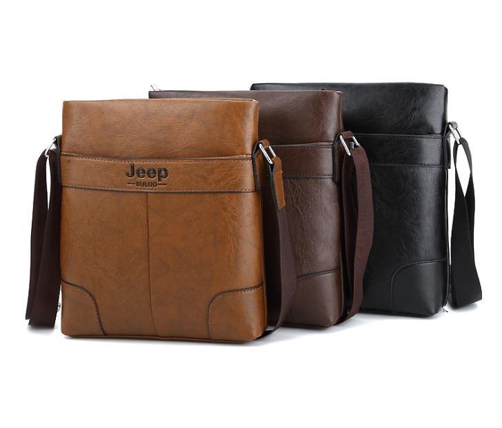 Jeep Buluo Leather Men Messenger Bag Men´s Crossbody Bag Shoulder Bag
