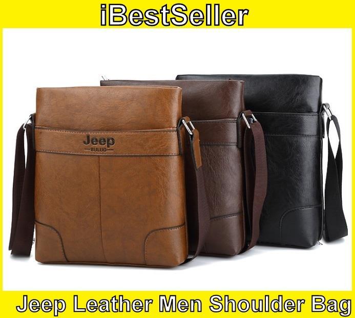 f444cb5f3dd0 Jeep Buluo Leather Men Messenger Bag Men´s Crossbody Bag Shoulder Bag. ‹ ›