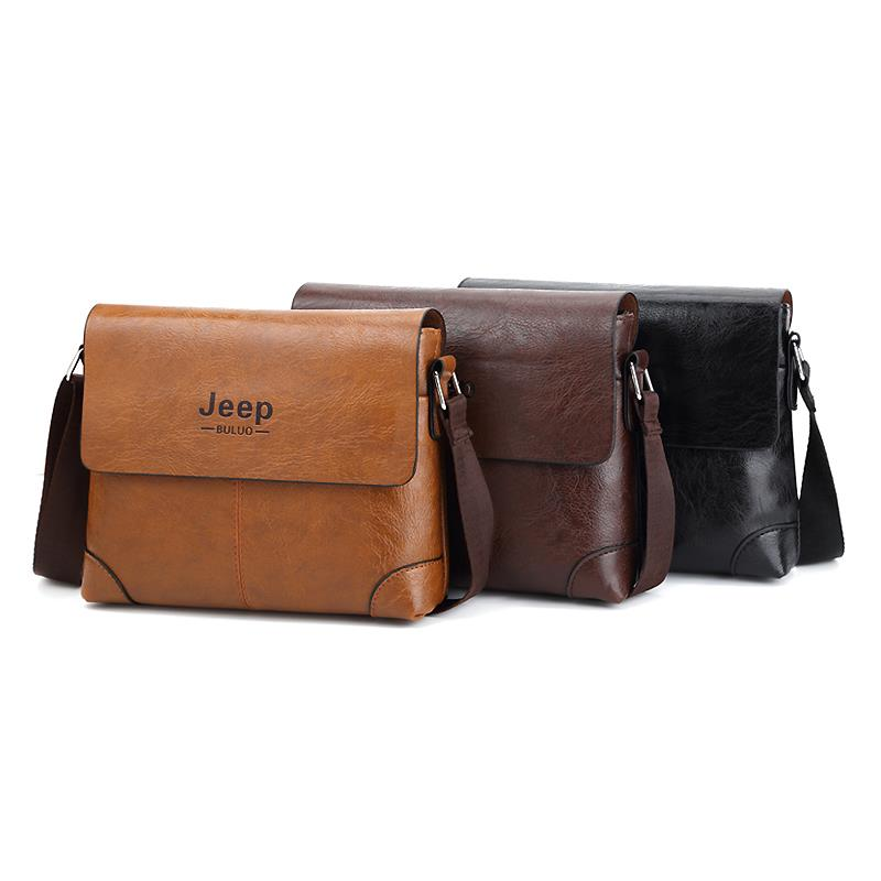 4eebb6aba798 JEEP BULUO Men Leather Bag Brand Ne (end 10 16 2019 3 06 PM)