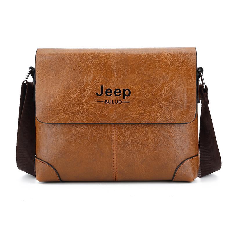 Jeep Buluo Men Leather Bag Brand New Shoulder Messenger