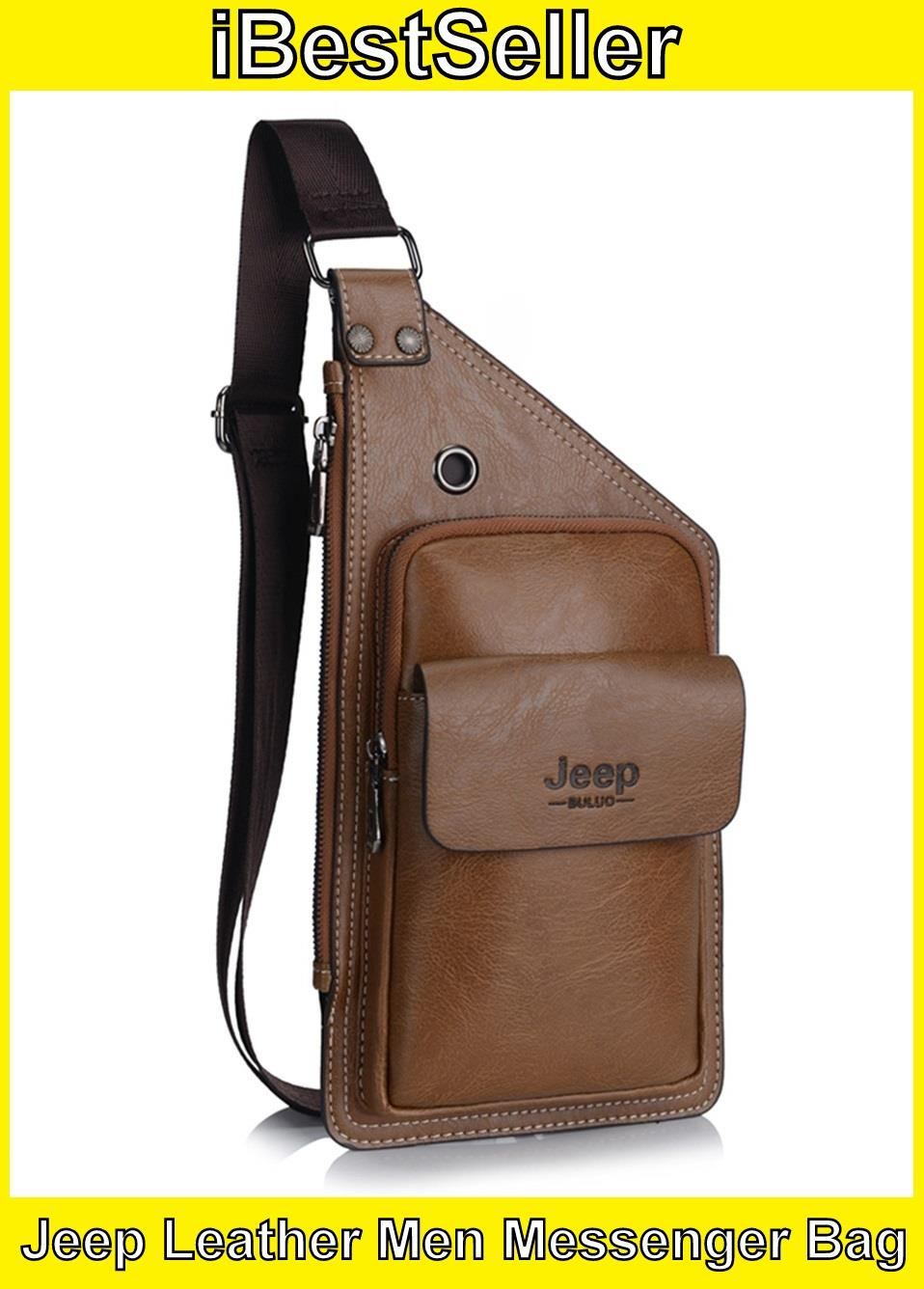 3697d299dcc5 Jeep Buluo Men Leather Bags Leather T (end 9 6 2019 6 15 PM)