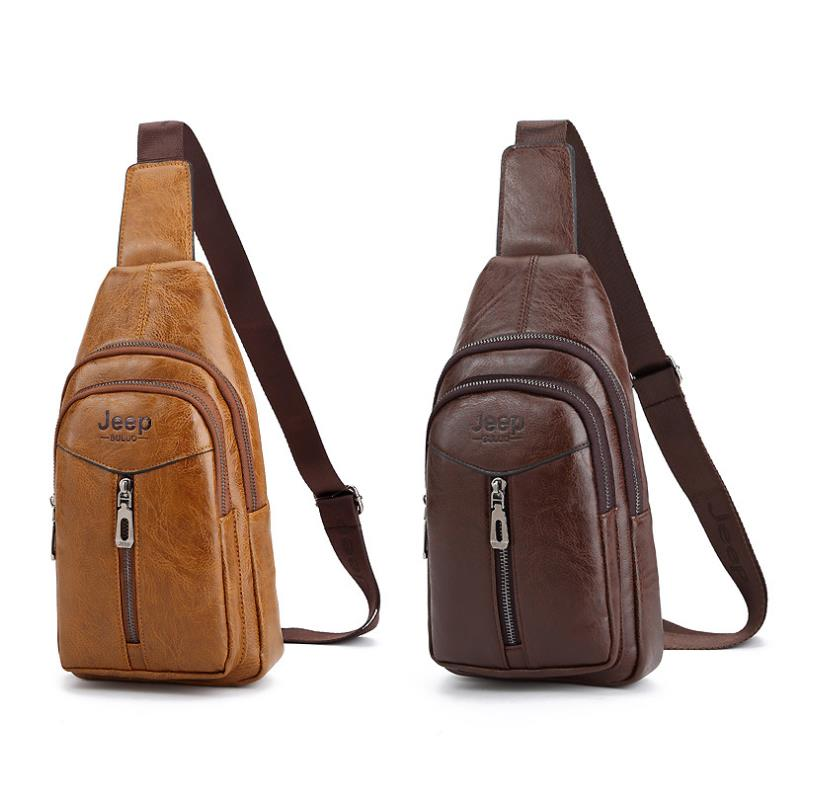 Jeep Buluo Original Leather Bag Men Shoulder Crossbody Sling