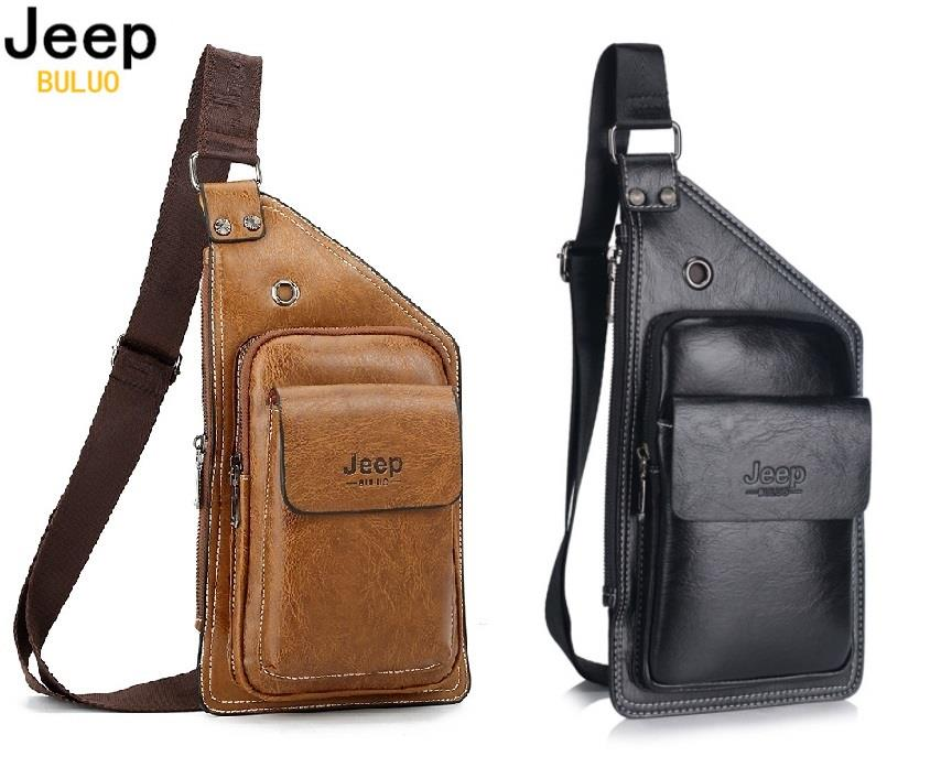 217e633eda Jeep Buluo Shoulder Leather Messenger Bag Men Leather Bag Sling Bag. ‹ ›