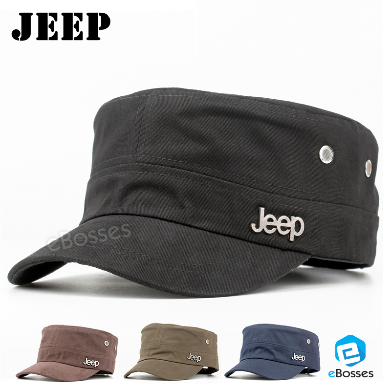 1dabdf16 Jeep Cadet Flat Top Hats Adjustable (end 3/22/2020 11:48 AM)