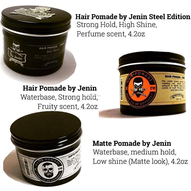 Jenin Hair Pomade Rambut ( Water Based + Strong Hold + Shine Effect )