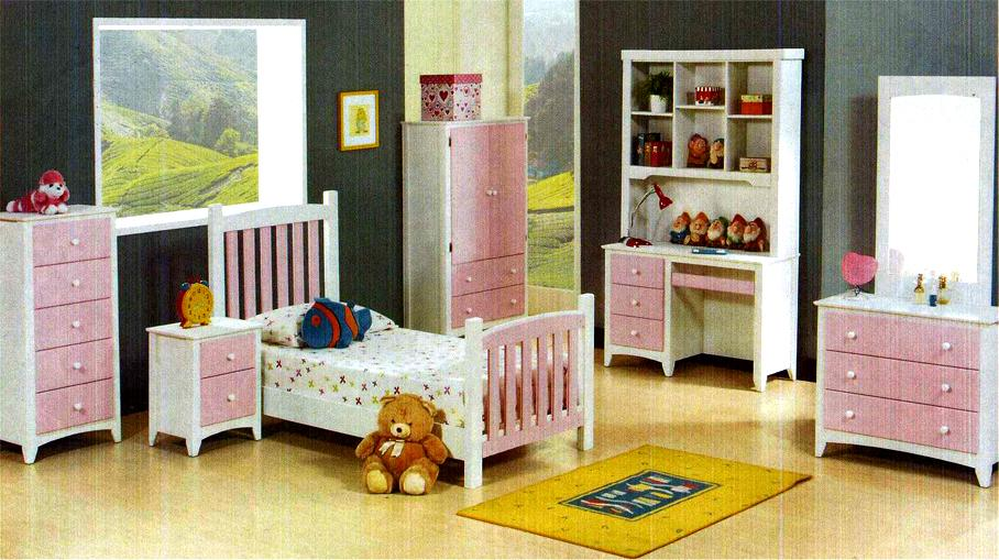 Jenny Kid Pink Bedroom Set