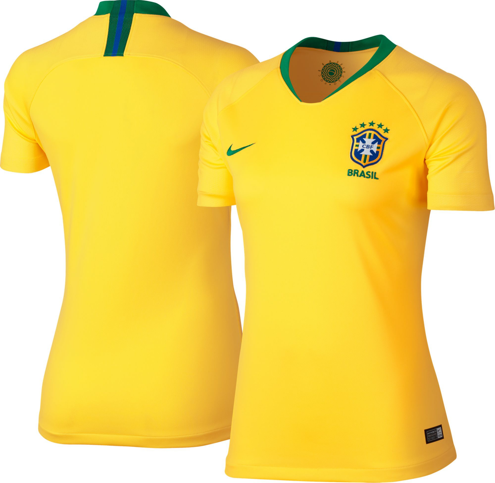 Jersey - Women Brazil Home World Cup Official 2018 Jersey Football Jersey Onli
