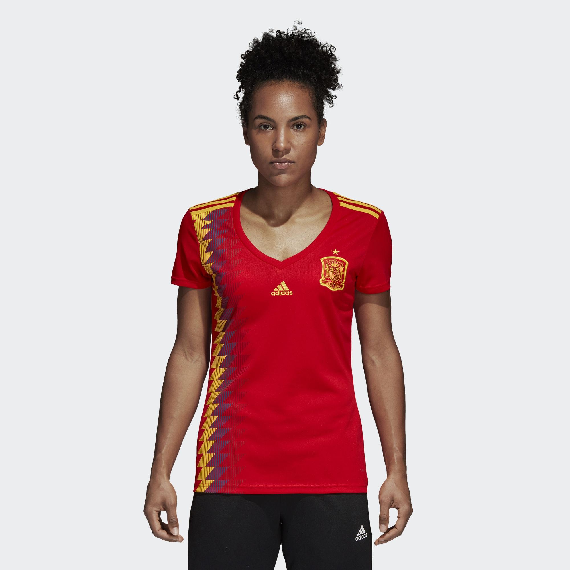 finest selection c0f0b a9bb6 Jersey - Women Spain Home World Cup Official 2018 Jersey Football Jersey  Onlin