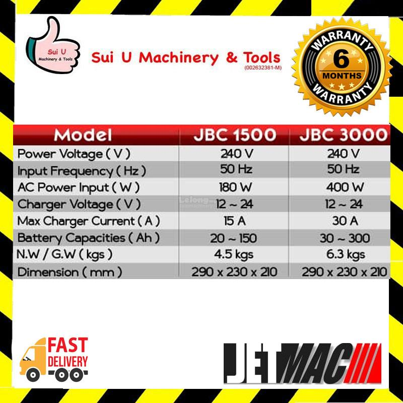 Jetmac JBC 1500 Transformer Battery Charger
