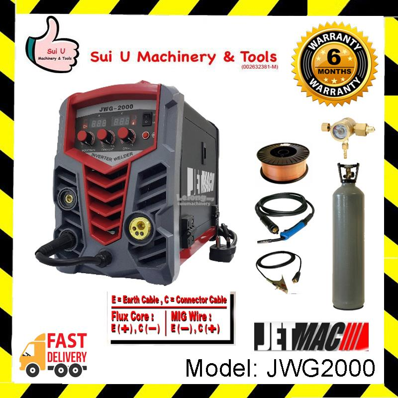 Jetmac JWG2000 MIG Inverter Welder Welding Machine with CO2 Gas and We