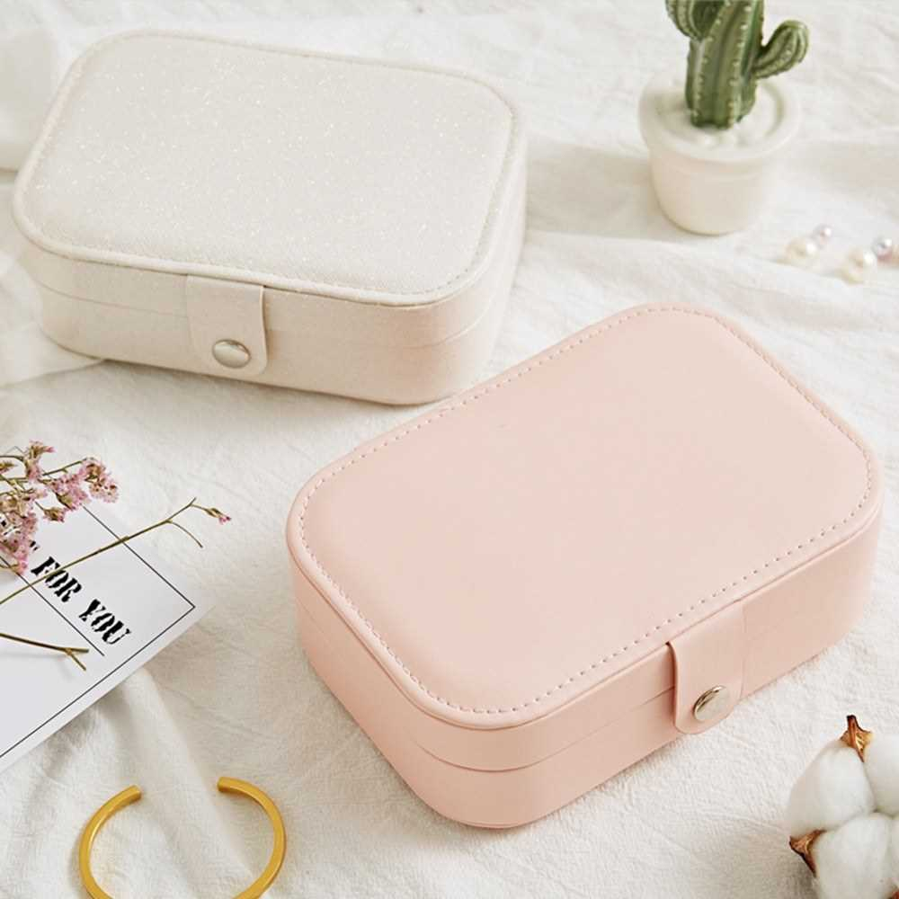 Jewelry Box for Women Double Layer Travel Jewelry Organizer for