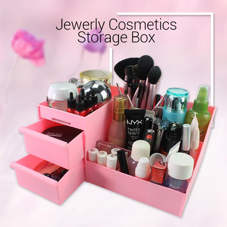 Jewelry Cosmetics Makeup Storage Box Korean Style Multifunctional Box