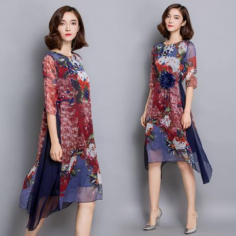 74be7470e6f JF TD0688 Plus Size Floral Chiffon D (end 1 21 2019 8 15 PM)