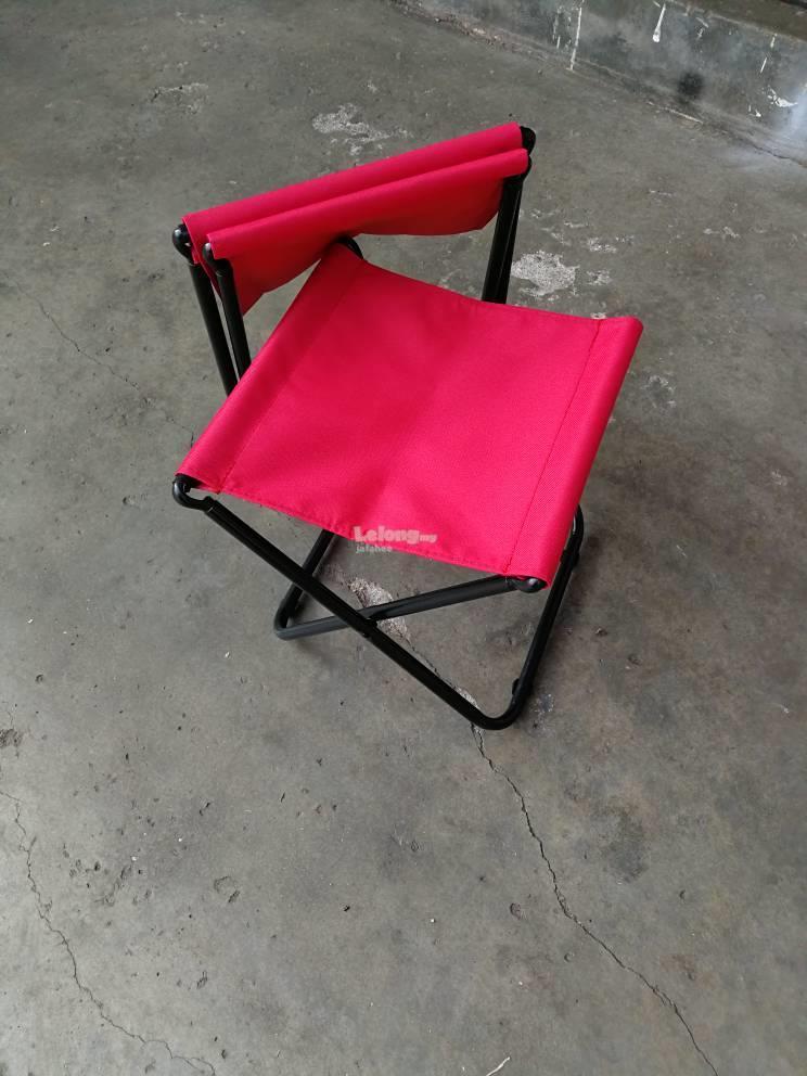 JFH Portable Armless Folding Fishing Stool Beach Camping Picnic Chair(