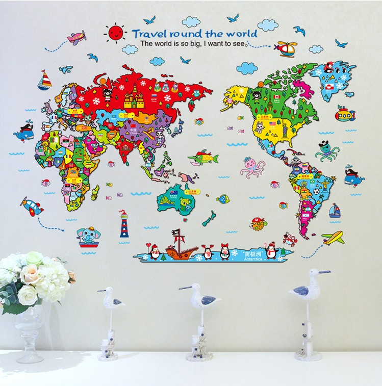 Jg travel around the world world map end 1162018 639 pm jg travel around the world world map diy wall sticker gumiabroncs