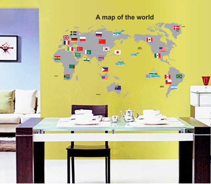 JG World Map Flag DIY Wall Art Wall (end 7/14/2018 7:05 PM)