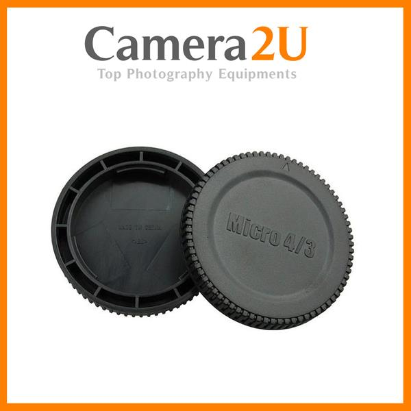 JJC L-R7 Body & Rear Lens Cap Set for Olympus M4/3 Lens/Camera