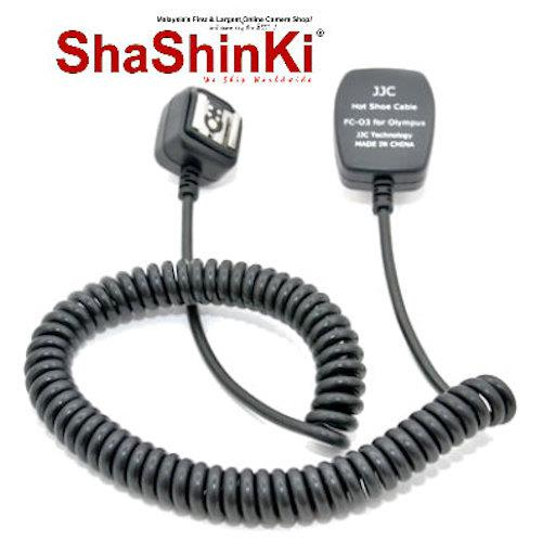 JJC TTL Off-Camera Shoe Cord FC-O3 (3M) (Replacing Olympus FL-CB05 Hot