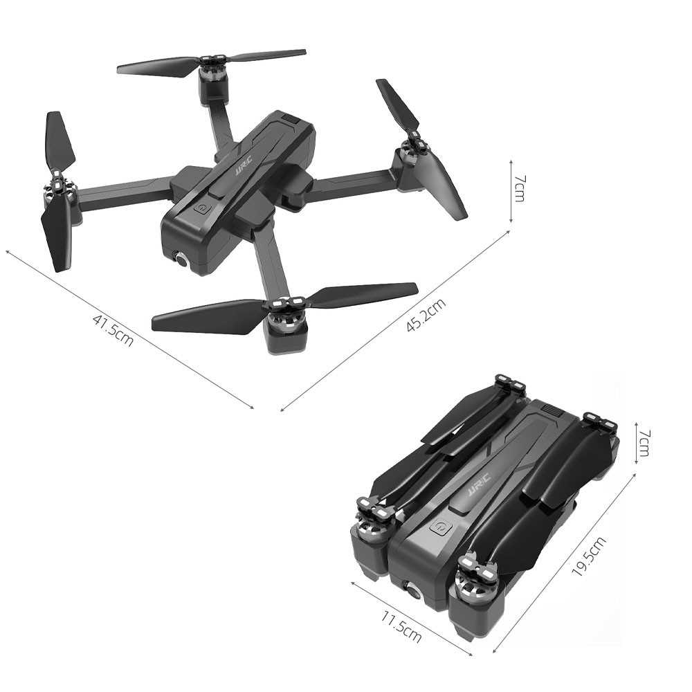 JJR/C X11 5G GPS Wifi FPV RC Drone with 2K Camera Handbag and 2 Battery Uniaxi