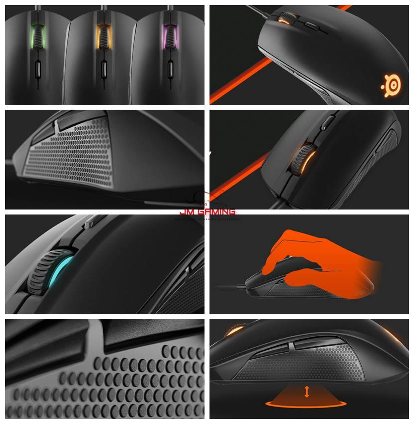 7b467e6c9af JM GAMING Original SteelSeries Rival 100 Optical Gaming Mouse Black