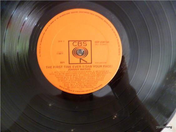 JOHNNY MATHIS HITS LP RECORD VINYL (end 4/11/2017 2:58 PM
