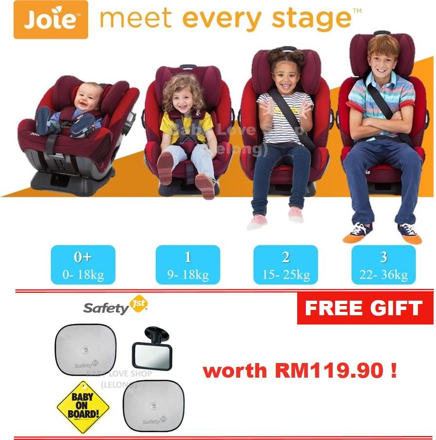 Joie Every Stage Convertible Car Seat 0 36kg FREE GIFT