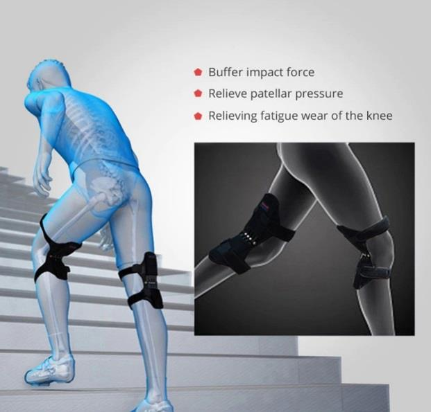 Joint Support Knee Spring Pads Powerful Rebound Stabilizer booster