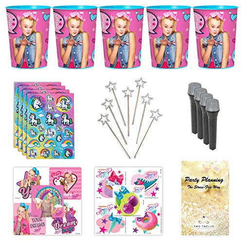 JoJo Siwa Party Favor Cup and Stickers and Other Goodies, 12 Guests, 72 Pieces