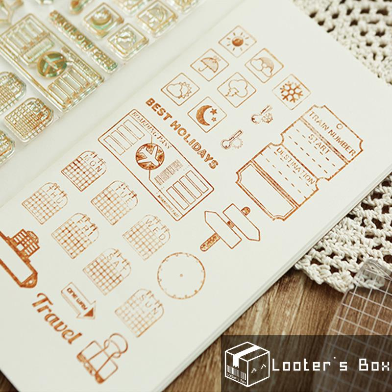 Journey & Days Traveler's Addicts DIY Rubber Stamp (H)