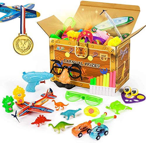 Joyjoz Party Favors Carnival Prizes for Kids, 120PCS Prizes Box Toy Assortment