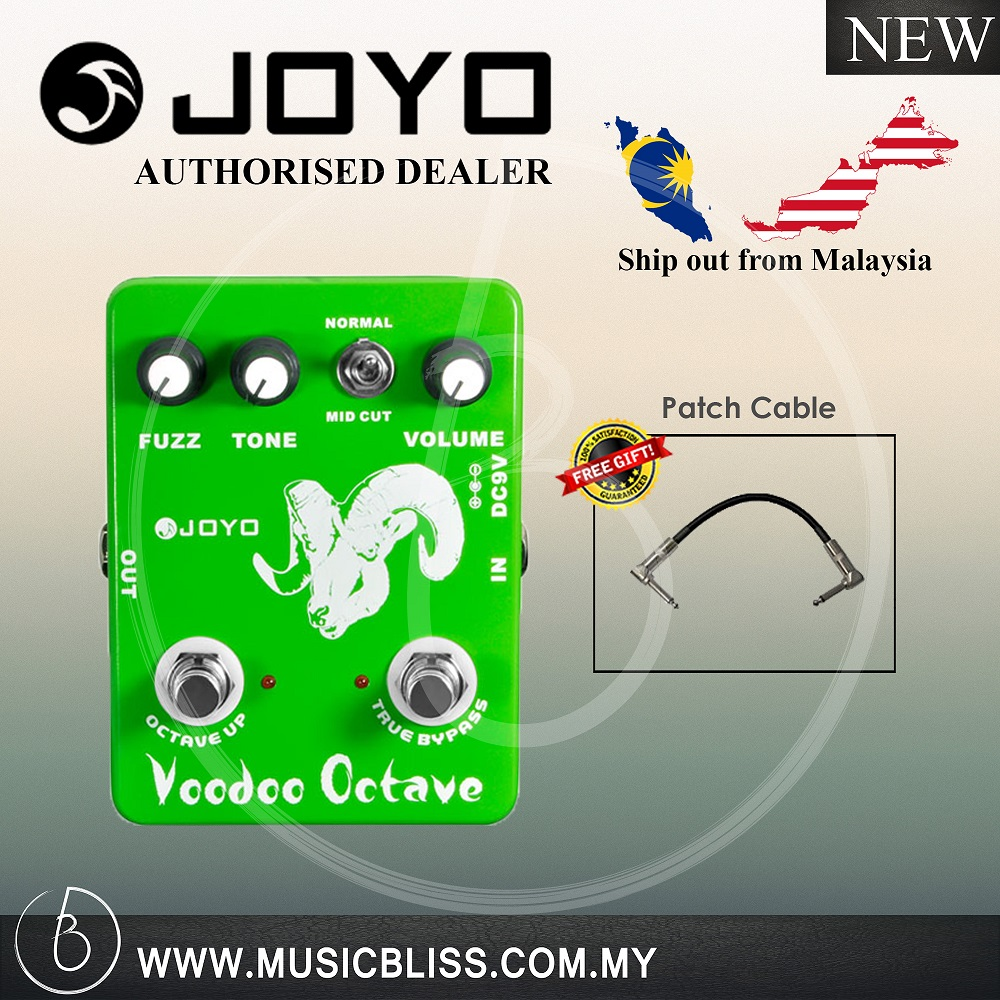 Joyo Jf 12 Voodoo Octave Guitar Ef End 10 19 2020 1244 Pm Octaver Fuzz Effects Effect Pedal W Free Patch Cable Jf12