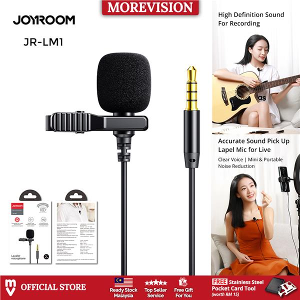 Joyroom Clip Mic for Phone Mini Lavalier Lapel Microphone Handsfree 3.