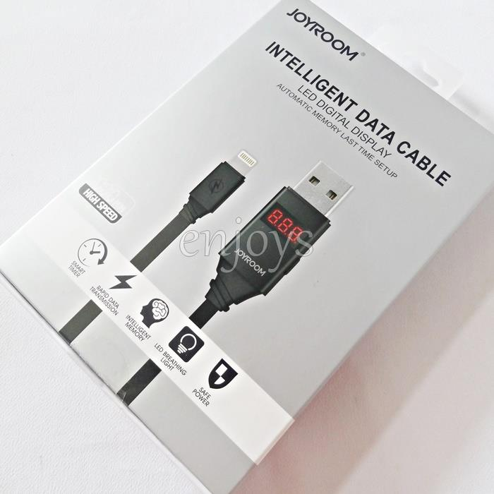JOYROOM JR-ZS200 1.0m LED Smart Timer Cable iPhone X 8 7 6S 6 PLUS 5
