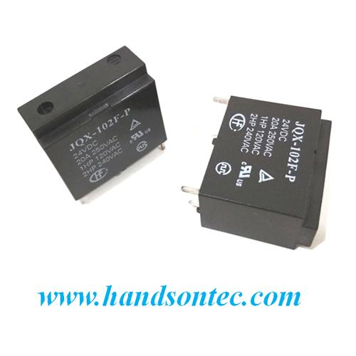 JQX-102F-P High Power Relay 20A/250VAC