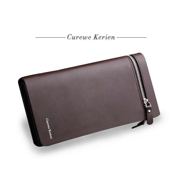 f6b808465 JS Curewe Kerien Leather Men Big Space Business Long Purse Wallet
