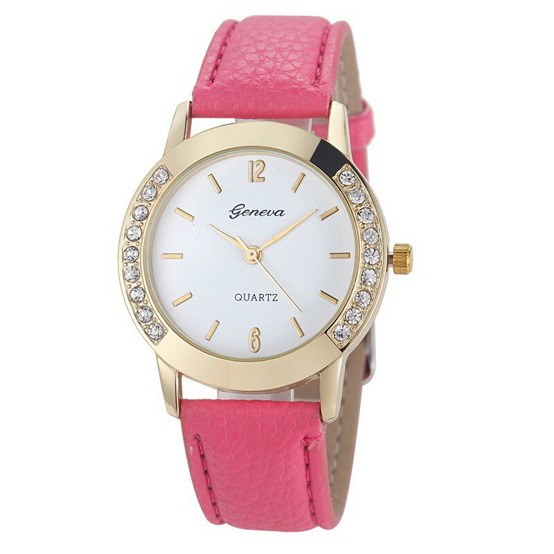 JS Geneva Diamond Stainless Steel Quartz Elegant Women Fashion Watch